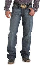 Cinch Mens Grant Relaxed Boot Leg Jeans - Dark Stone