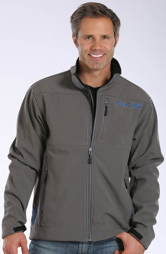 Cinch Mens Zip Front Bonded Jacket - Charcoal