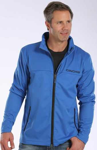 Cinch Mens Soft Shell Jacket - Blue