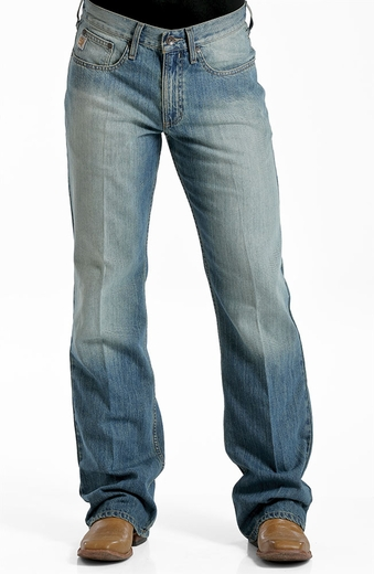 Cinch Mens Britt Jeans - Medium Stonewash