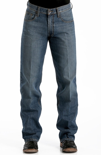 Cinch Mens Hayes Relaxed Fit Straight Leg Jeans - Indigo