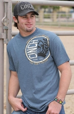 Cinch Mens Logo Tee Shirt - Slate