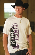 Cinch Mens Logo Tee Shirt - White