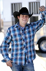 Cinch Mens Long Sleeve Modern Fit Plaid Button Down Western Shirt - Blue (Closeout)