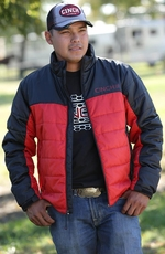 Cinch Mens Poly Fill Jacket - Red/Black