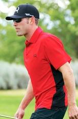 Cinch Mens Short Sleeve Athletic Polo Shirt - Red (Closeout)