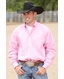 Cinch Mens Solid Long Sleeve Button Down Western Shirt - Pink