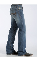 Cinch Mens Tanner Relaxed Fit Boot Cut Jeans - Medium Stonewash