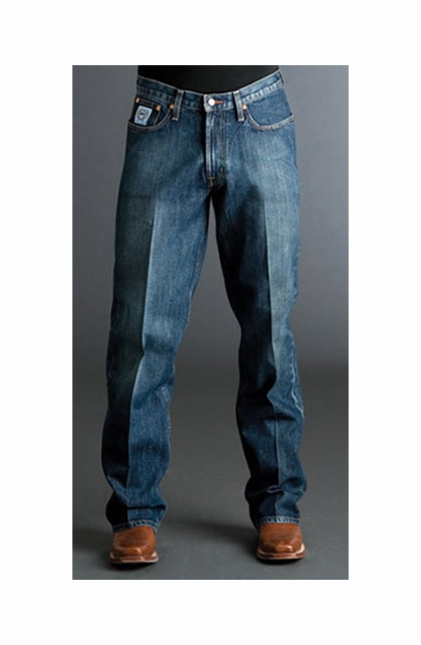 Cinch Mens White Label Relaxed Fit Jean (Dark Stonewash)