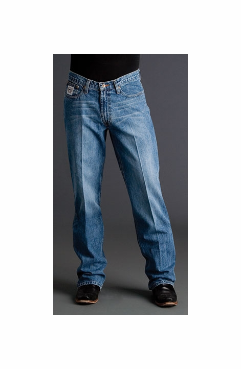 Cinch Mens White Label Relaxed Fit Jean (Light Stonewash)