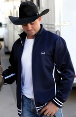 Cinch Mens Zip Athletic Jacket - Navy