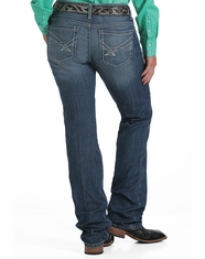 Cinch Women's Ada Mid Rise Relaxed Fit Boot Cut Jeans - Medium Stonewash
