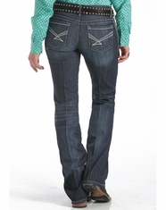 Cinch Women's Ada Mid Rise Relaxed Fit Boot Cut Jeans - Rinse