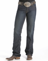 Cinch Women's Jenna Mid Rise Relaxed Fit Boot Cut Jeans - Rinse