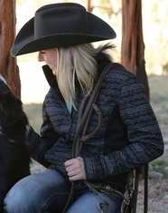 Cinch Women's Printed Bonded Jacket - Black