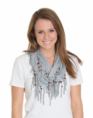 Cindy Smith Women's Beaded Infinity Scarf - Grey (Closeout)