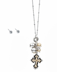 Cindy Smith Women's Cross Necklace Set (Closeout)