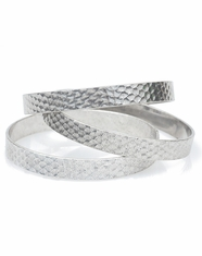 Cindy Smith Women's Hammered Bangle Bracelet - Antique Silver
