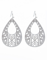 Cindy Smith Women's Southwest Dangle Earrings - Silver (Closeout)