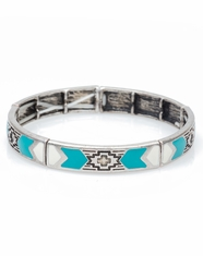 Cindy Smith Women's Southwest Painted Stretch Bracelet - Turquoise (Closeout)