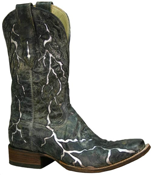 Corral Men's Black Lightening Cowboy Boots