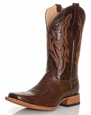Corral Men's Circle G Square Toe Boots - Brown
