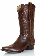 Corral Mens Shaded Cowhide Snip Toe Cowboy Boots - Brown (Closeout)