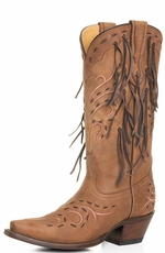 Corral Women's Fringe Cowboy Boots - Honey (Closeout)