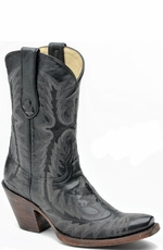 Corral Women's Goat Cowboy Boots with Stitched Vamp and Tube - Black (Closeout)