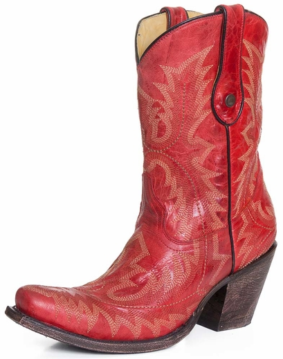Corral Womens Snip Toe Fancy Stitch 9