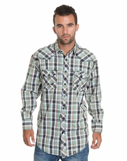 Cowboy Up Men's Long Sleeve Plaid Snap Shirt (Closeout)