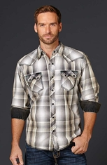 Cowboy Up Mens Long Sleeve Western Shirt (Closeout)