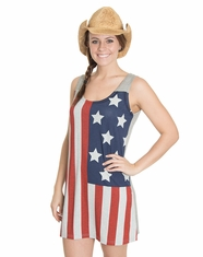 Cowgirl Justice Women's American Flag Tank Dress