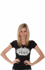"Cowgirl Justice Women's ""This Ain't My First Rodeo"" Short Sleeve Tee Shirt"