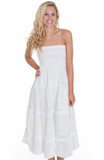Cowgirl Justice Womens Antonia Strapless Sundress - White