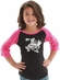 Cowgirl Tuff Girls Bronco Tee Shirt - Black