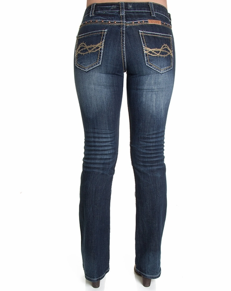 """Cowgirl Tuff Women's """"Don't Fence Me In"""" Jeans - West"""