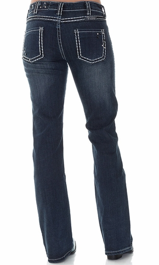 Cowgirl Tuff Women's Hot Stuff Western Jeans - Dark Wash (Closeout)
