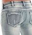 Cowgirl Tuff Women's Ladies Day Out Mid Rise Straight Leg Jeans - Light Wash