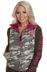 Cowgirl Tuff Womens Reversible Camo Vest (Closeout)