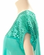 Cowgirl Tuff Womens Sequin Top - Green (Closeout)