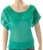 Cowgirl Tuff Womens Sequin Top - Green