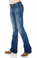 "Cowgirl Up Women's ""Ranch Party"" Jeans - Medium Stone"