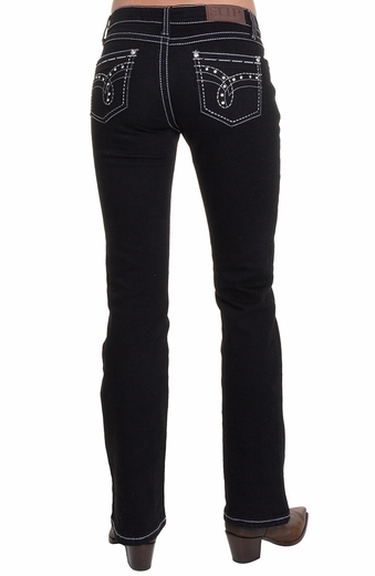 Cowgirl Up Womens Midnight Dance Jean - Overdyed Black (Closeout)