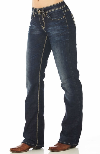 Cowgirl Up Womens Dove Flight Jean - Dark Stone