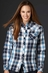 Cowgirl Up Womens Long Sleeve Embroidered Plaid Western Shirt - Blue