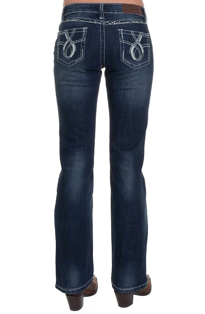 Cowgirl Up Womens Rocky Road Jean - Dark Stone (Closeout)