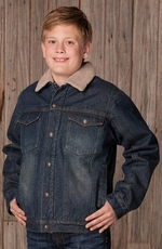 Cripple Creek Childrens Sherpa Lined Denim Jacket (Closeout)