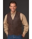 Cripple Creek Mens Basic Vest with Snap Front - Antique Chocolate
