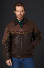 Cripple Creek Mens Two-Tone Zip Front Jacket - Antique Chocolate